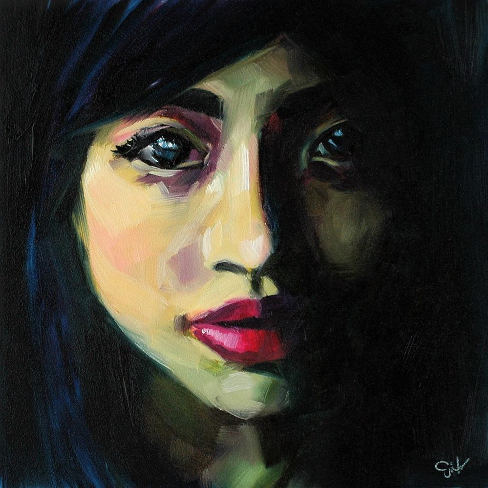 """Crimson"" original fine art by Janette Harter"