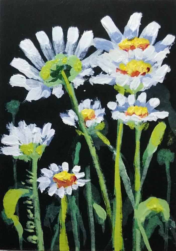 """""""Shasta Daisies"""" original fine art by Linda Blondheim"""