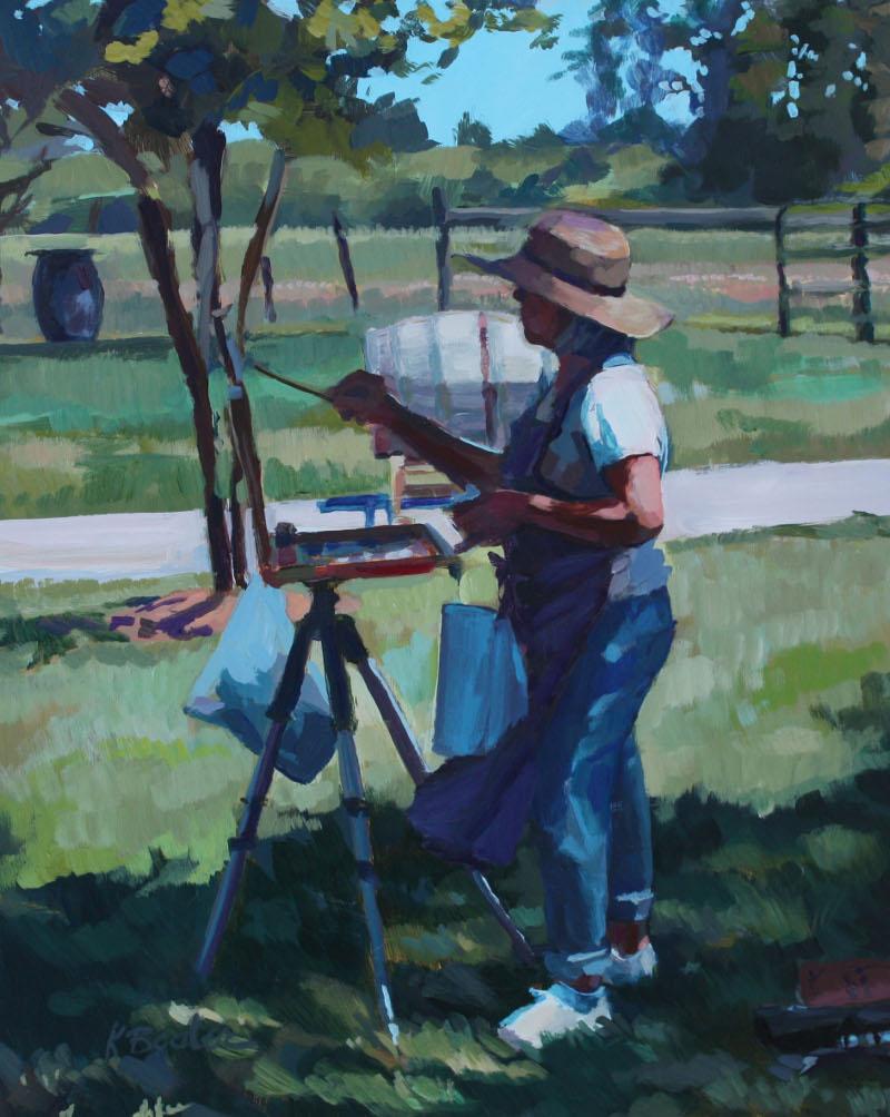 """""""The Painter"""" original fine art by Kaethe Bealer"""