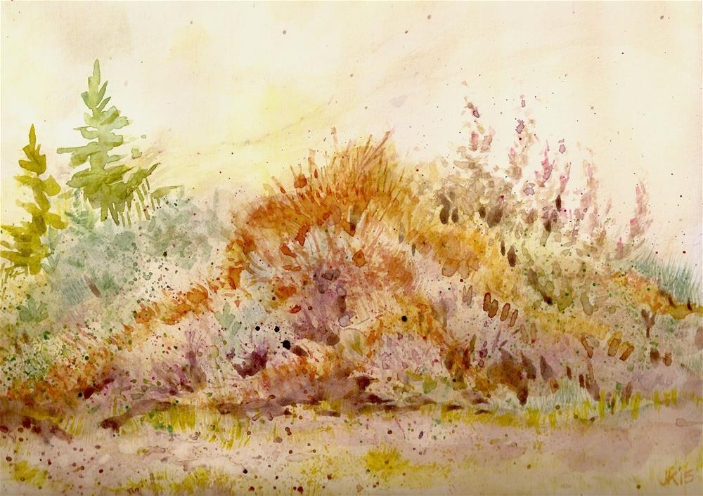 """Dirt Pile - Study in Texture and Triads"" original fine art by Jean Krueger"