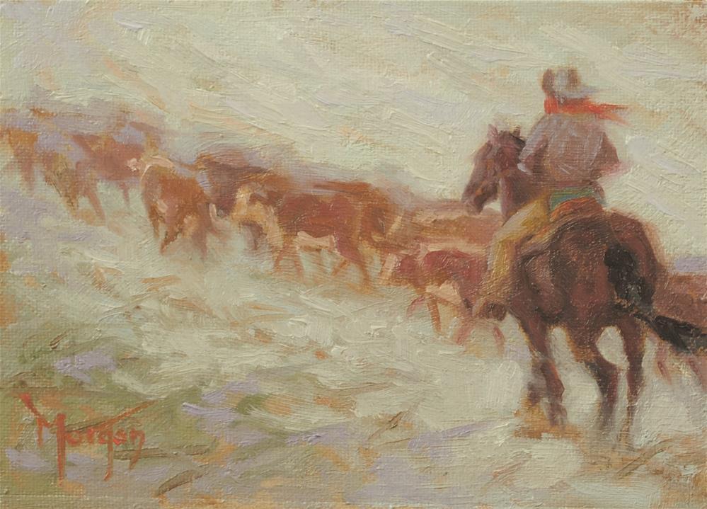 """Wrangler Memories #16"" original fine art by Cecile W. Morgan"
