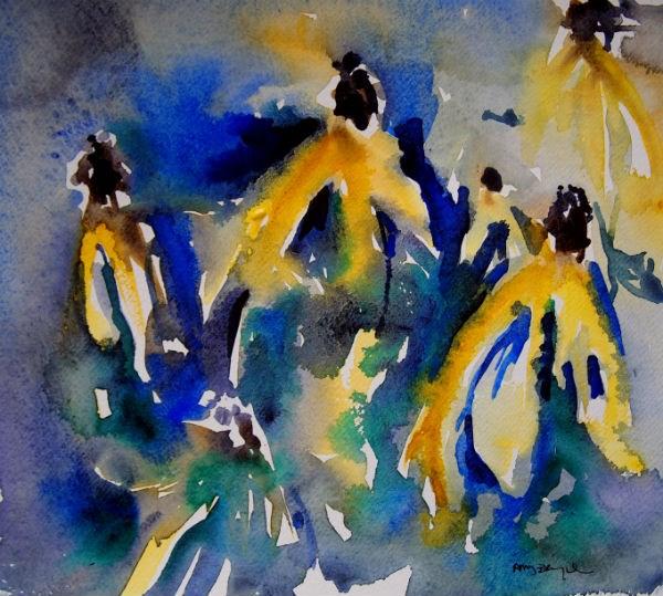 """Prairie Coneflowers"" original fine art by Amy Bryce"