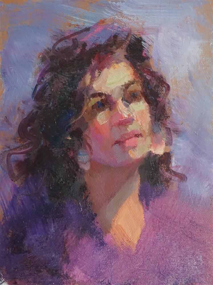 """Amanda"" original fine art by Carol Myer"