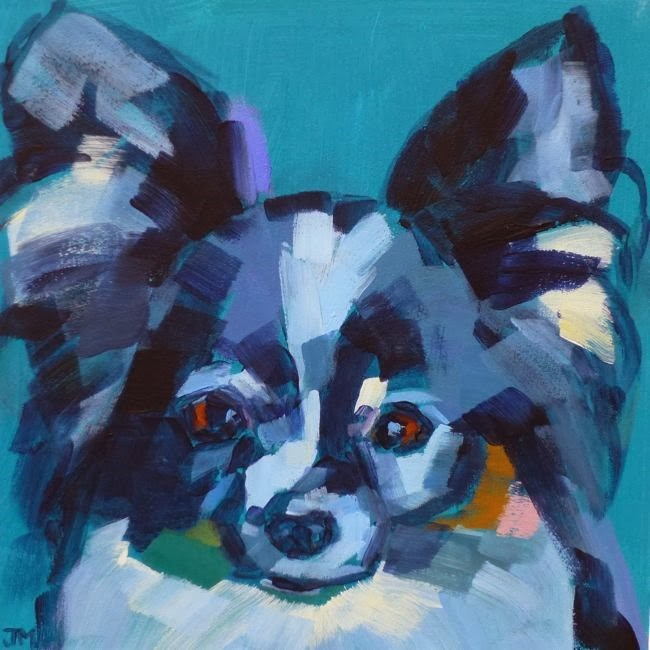 """Pet Portrait No. 2"" original fine art by Jessica Miller"