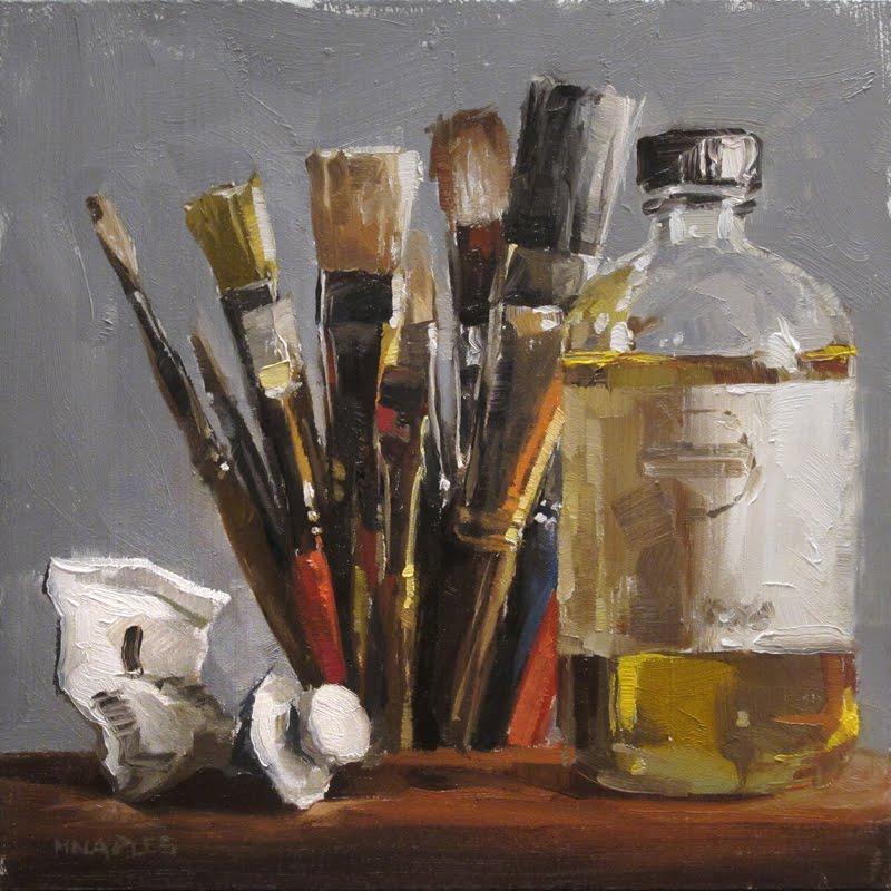"""The Artist's Tools"" original fine art by Michael Naples"