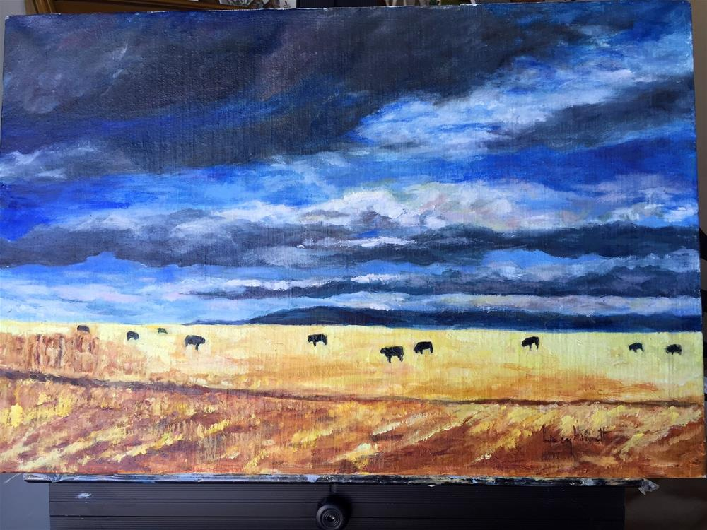 """""""Montana Gold"""" original fine art by Lucy Hammett"""