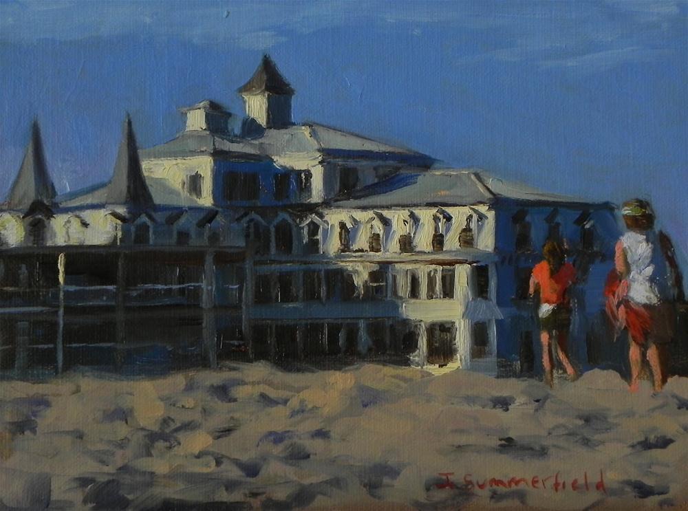 """Early Evening at the Beach II"" original fine art by Jonelle Summerfield"