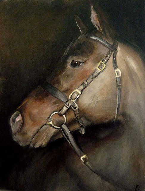"""Portrait of a horse"" original fine art by Karen Robinson"