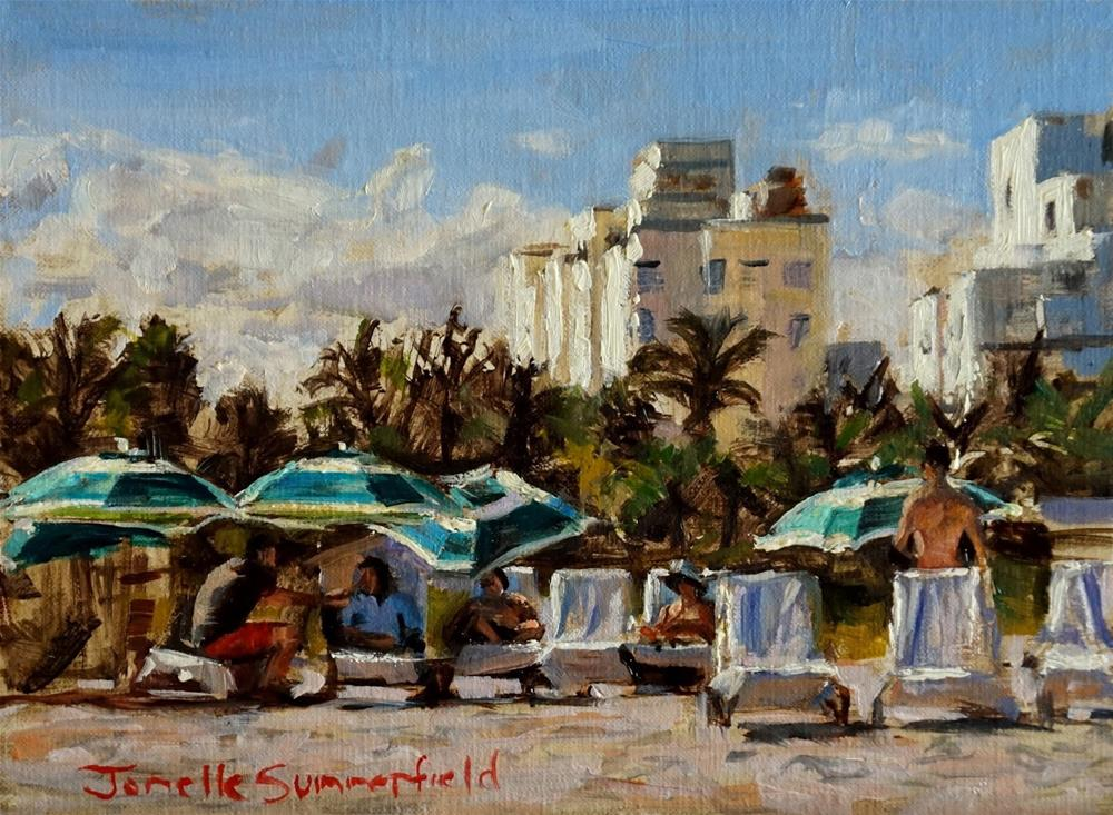 """Miami Beach II"" original fine art by Jonelle Summerfield"