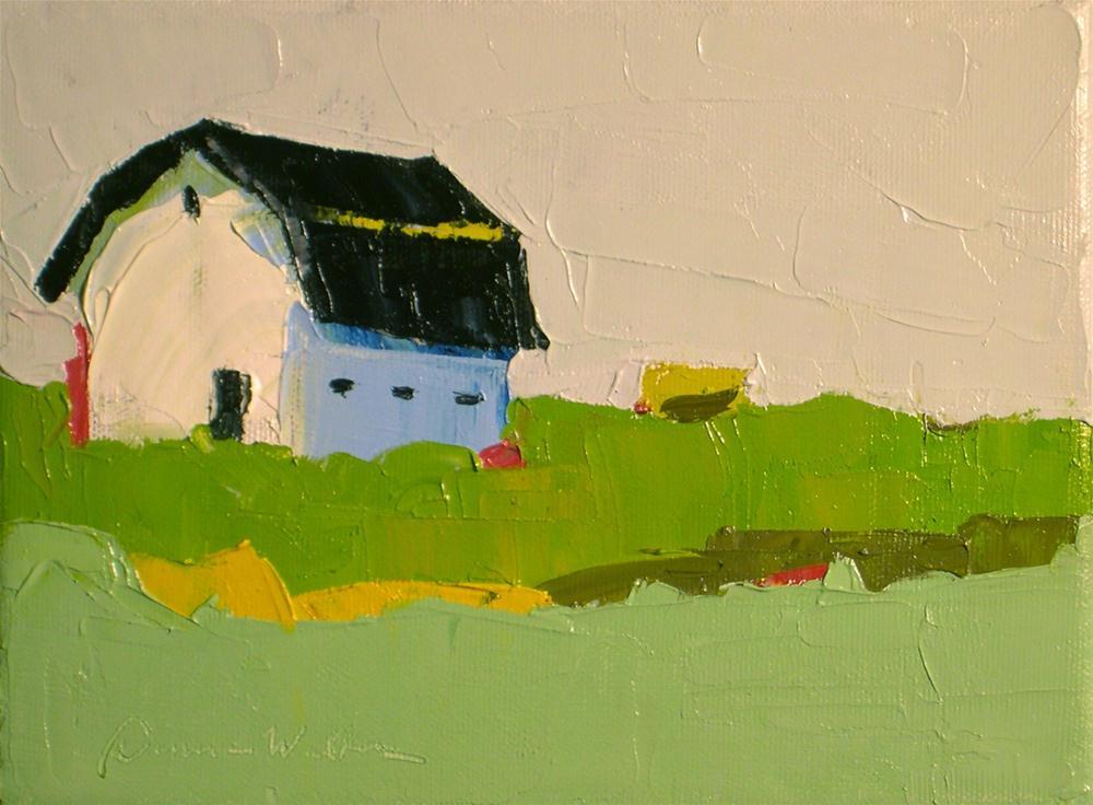 """Spring Green"" original fine art by Donna Walker"