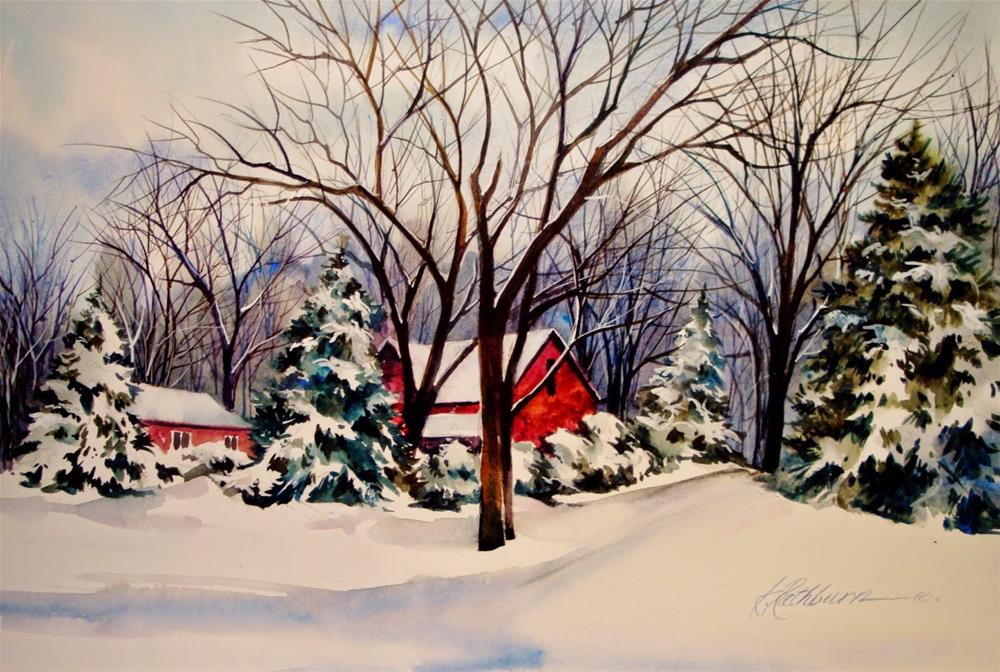 """Winter"" original fine art by Kathy Los-Rathburn"