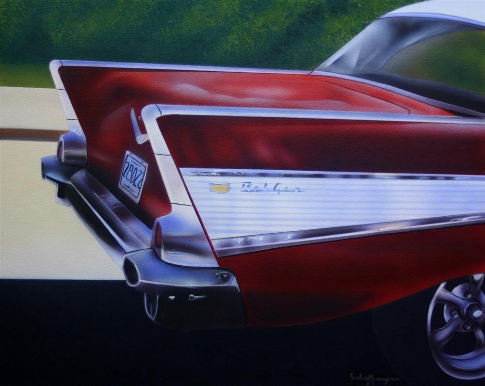 """""""'57 Bel Air"""" original fine art by Fred Schollmeyer"""