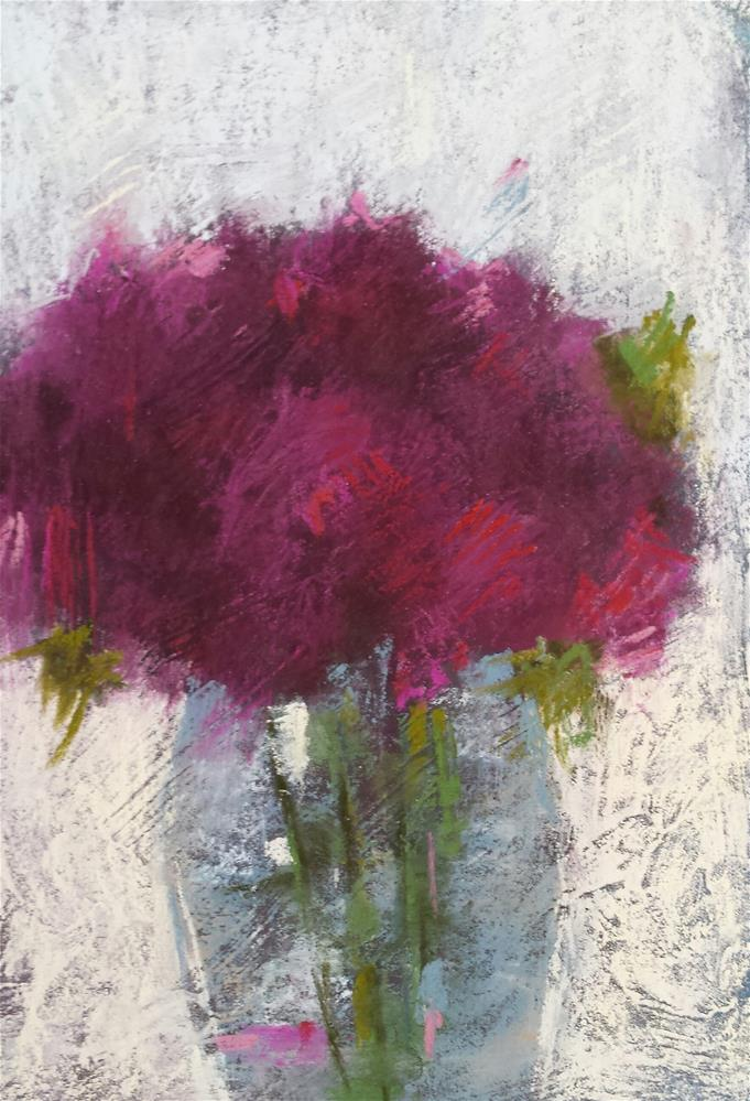 """Red Violet"" original fine art by Cindy Haase"