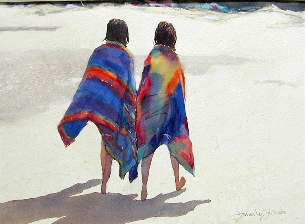 """Friends"" original fine art by Donna Dickson"