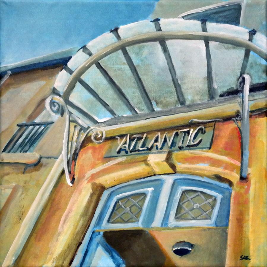 """""""1217 Hotel Atlantic"""" original fine art by Dietmar Stiller"""