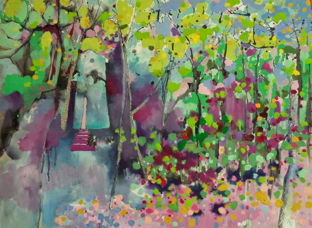 """""""It was a cabin in the woods..."""" original fine art by Anne Ducrot"""