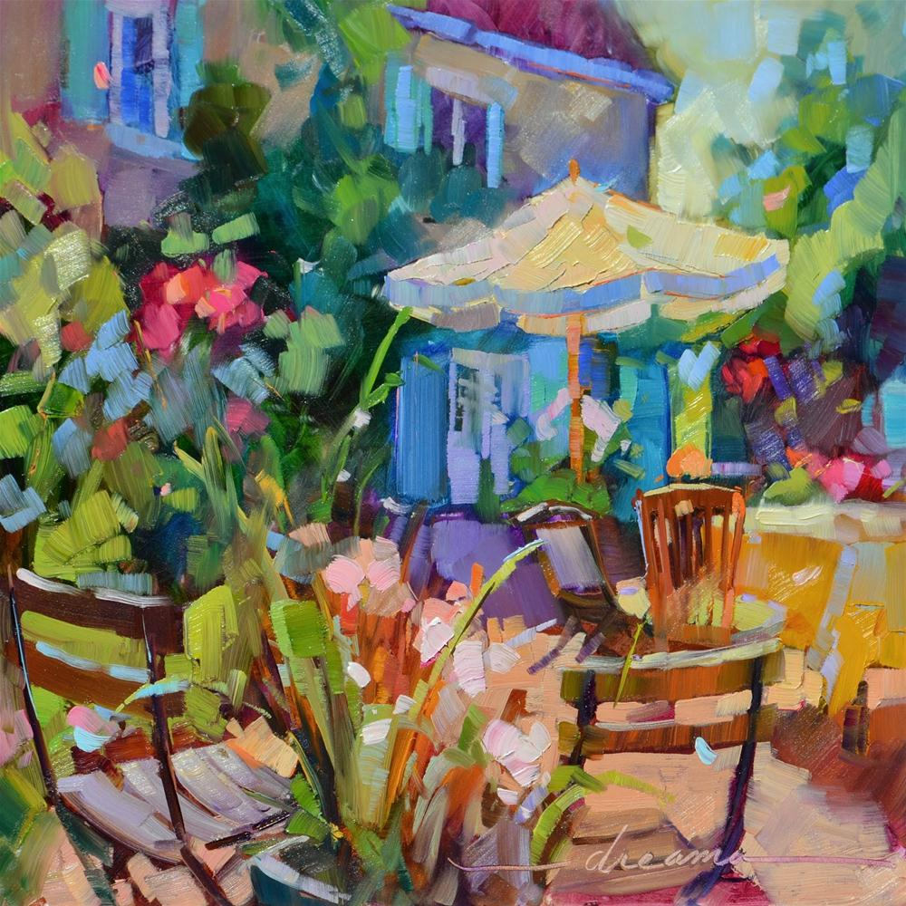 """French Holiday"" original fine art by Dreama Tolle Perry"