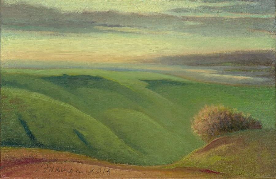 """""""The Clearing"""" original fine art by Carol L Adamec"""