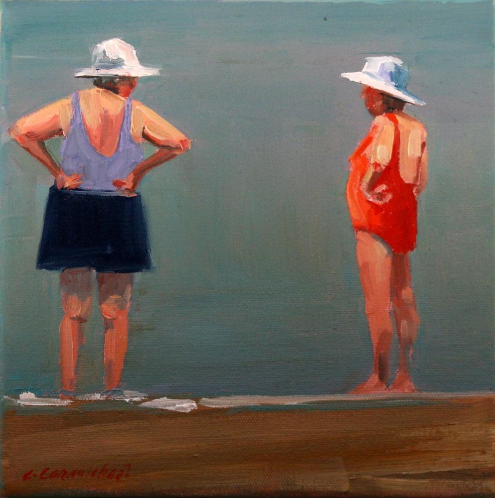 """red hot"" original fine art by Carol Carmichael"