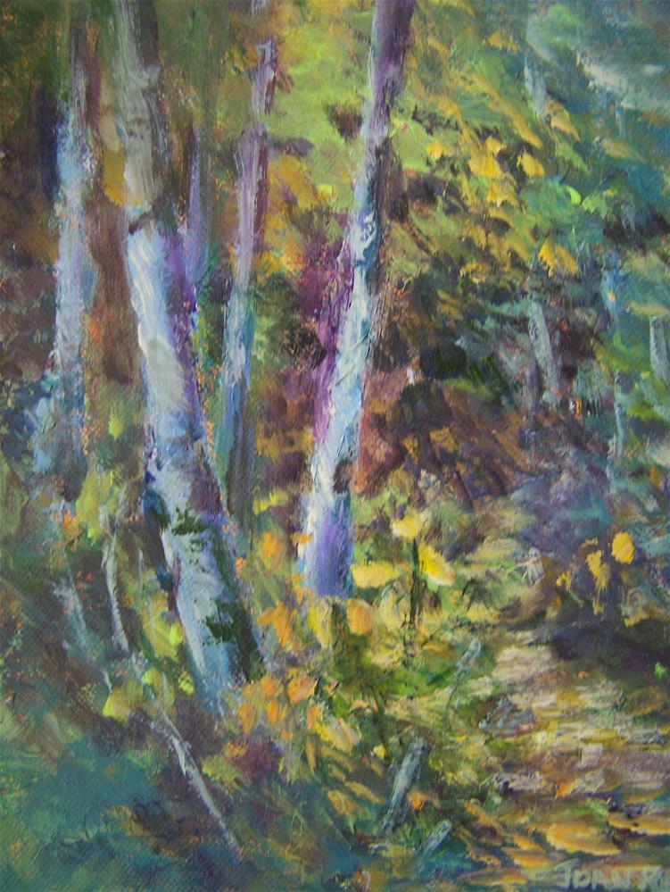 """""""A Walk in the Woods"""" original fine art by Joan Reive"""