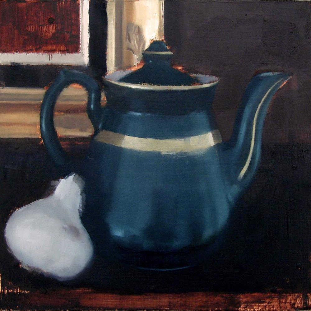 """Hall Teapot and Garlic"" original fine art by Michael William"