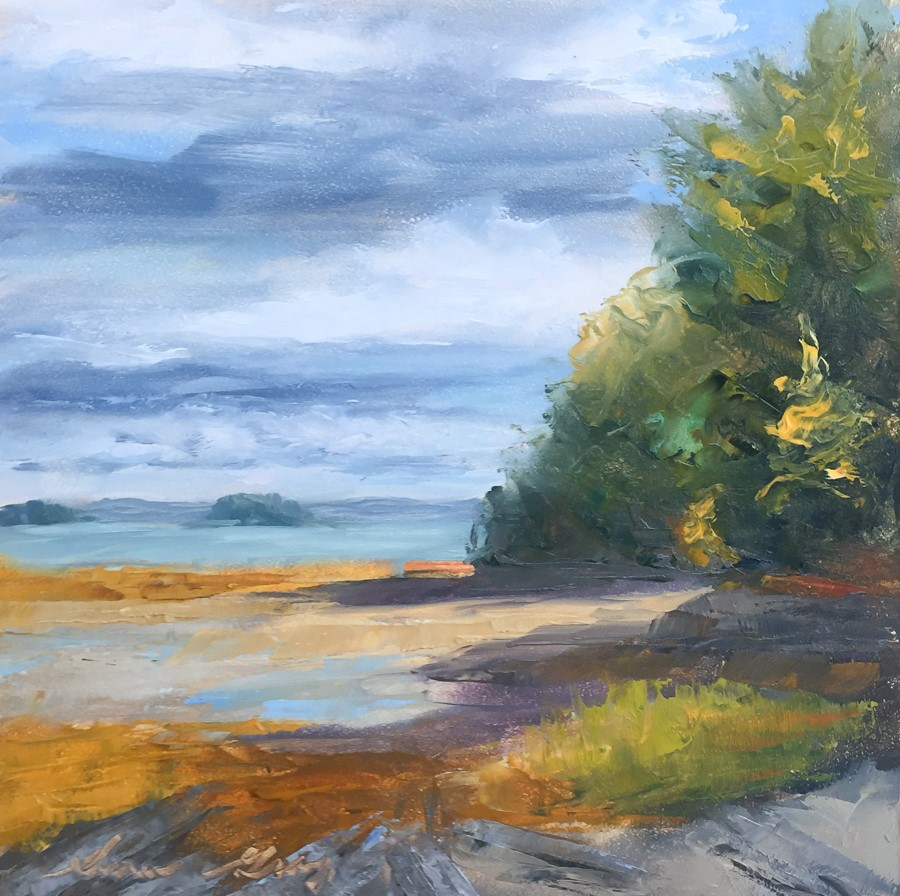 """#177 - Clearing Skies - Mackworth Island"" original fine art by Sara Gray"