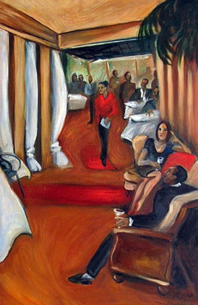 """Brickwall Restaurant"" original fine art by Valerie Vescovi"
