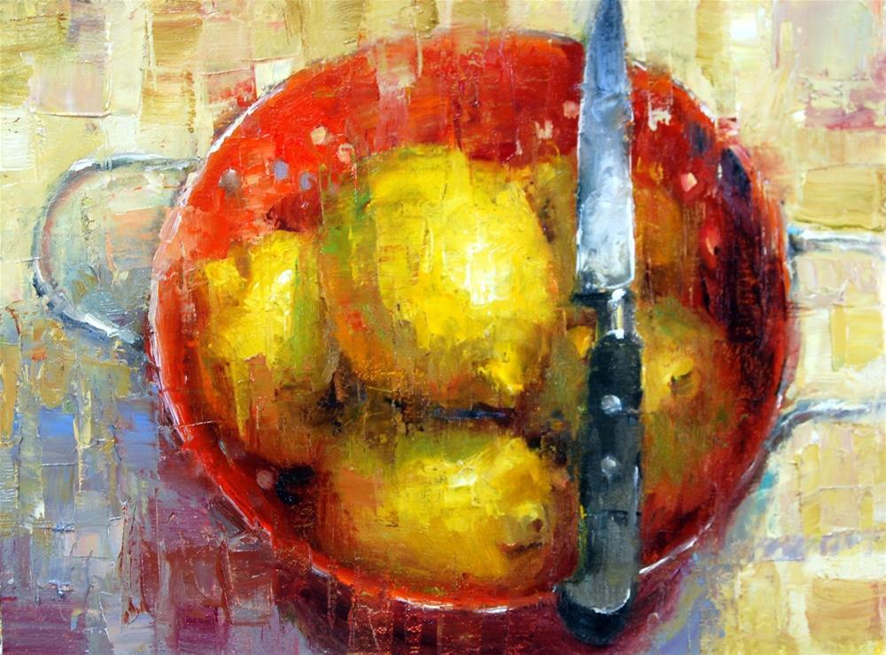 """Waiting To Be Sliced"" original fine art by Julie Ford Oliver"