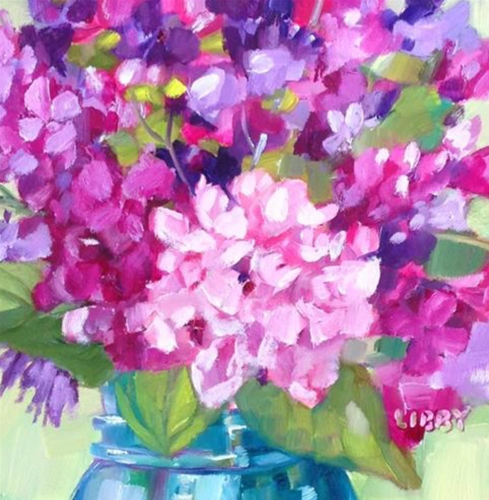 """""""Hearts and Flowers"""" original fine art by Libby Anderson"""