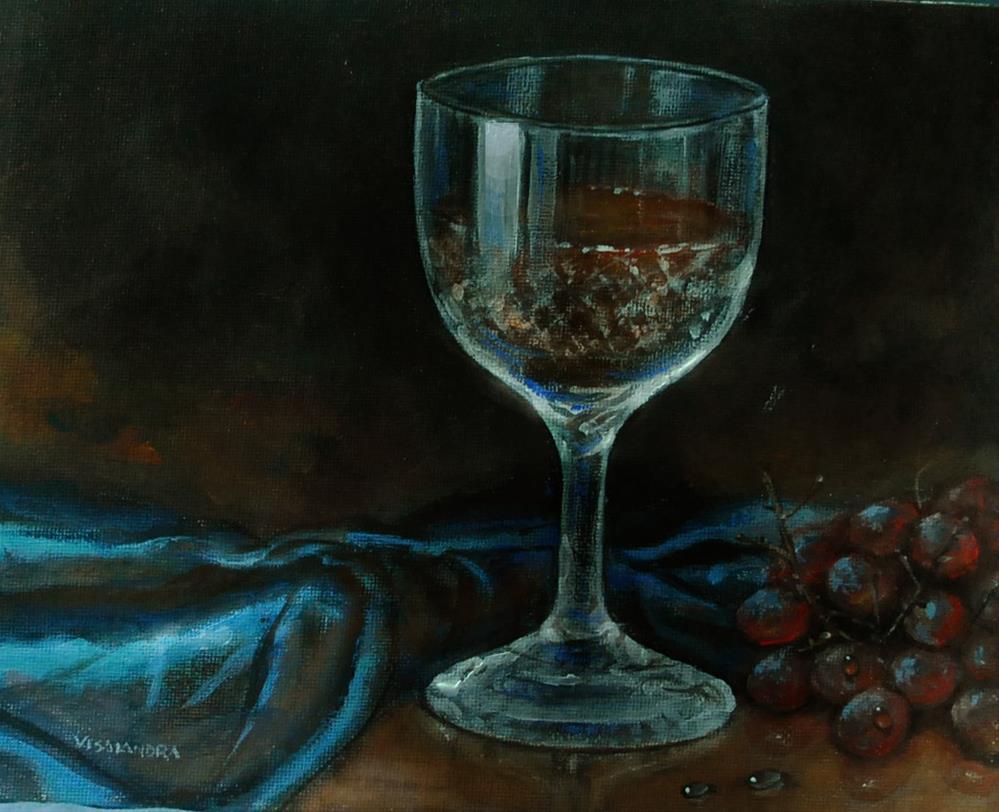 """""""wine glass"""" original fine art by vishalandra dakur"""