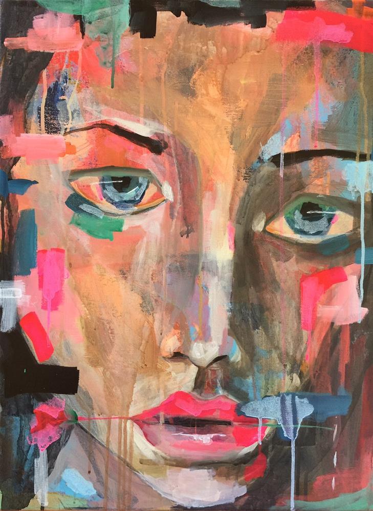"""162 As She's Leaving"" original fine art by Jenny Doh"