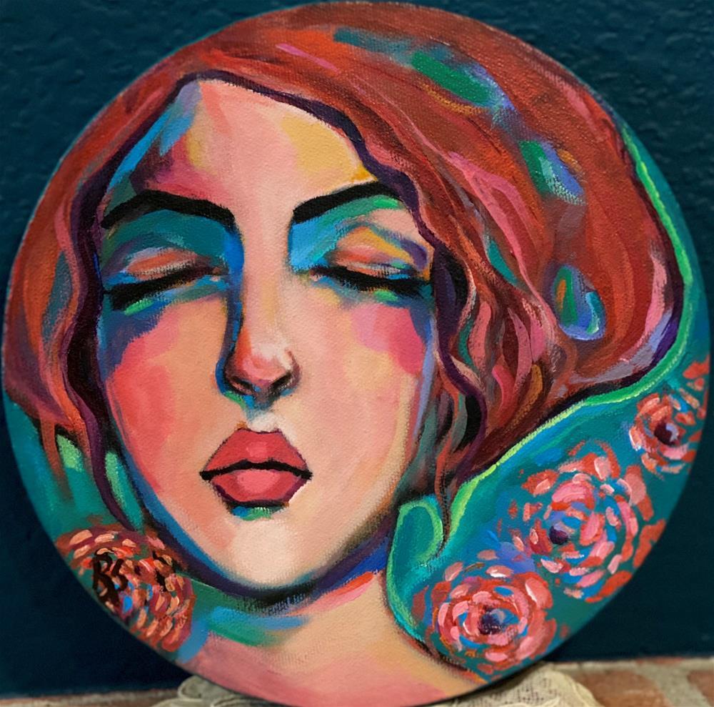 """""""The Garden of Her Dreams"""" original fine art by Artcylucy Art by Roberta Schmidt"""