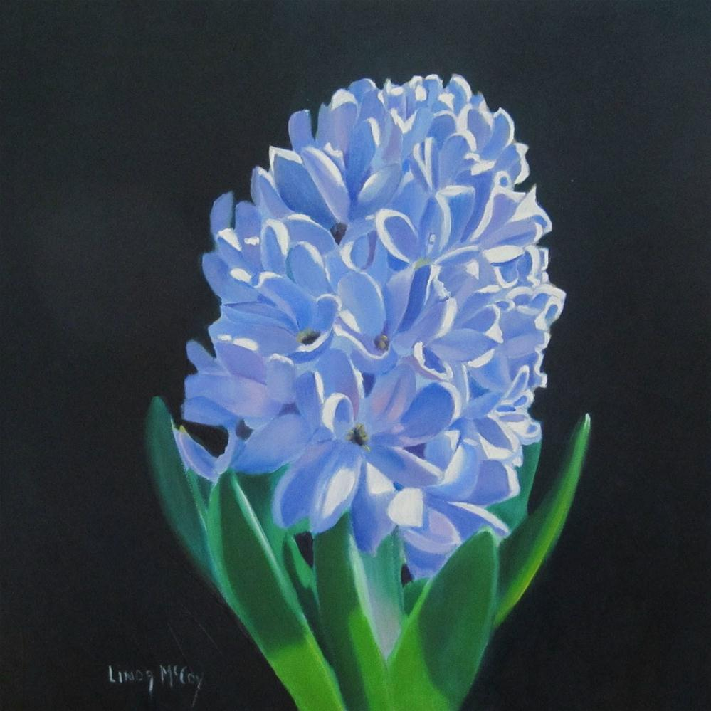 """Spring Hyacinth, Oil Painting by Linda McCoy"" original fine art by Linda McCoy"