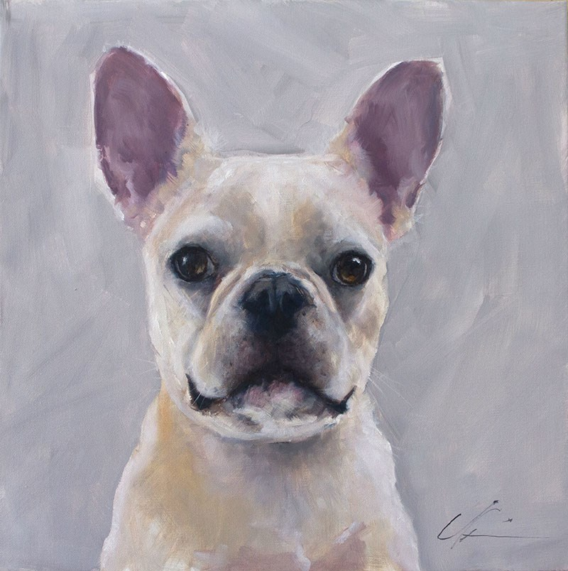 """French White"" original fine art by Clair Hartmann"