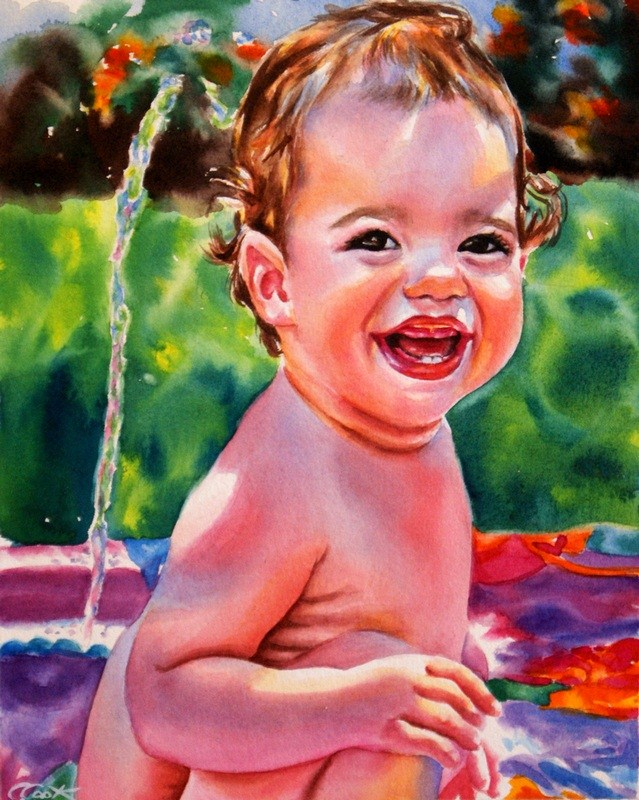 """Sweet Baby Girl"" original fine art by Crystal Cook"
