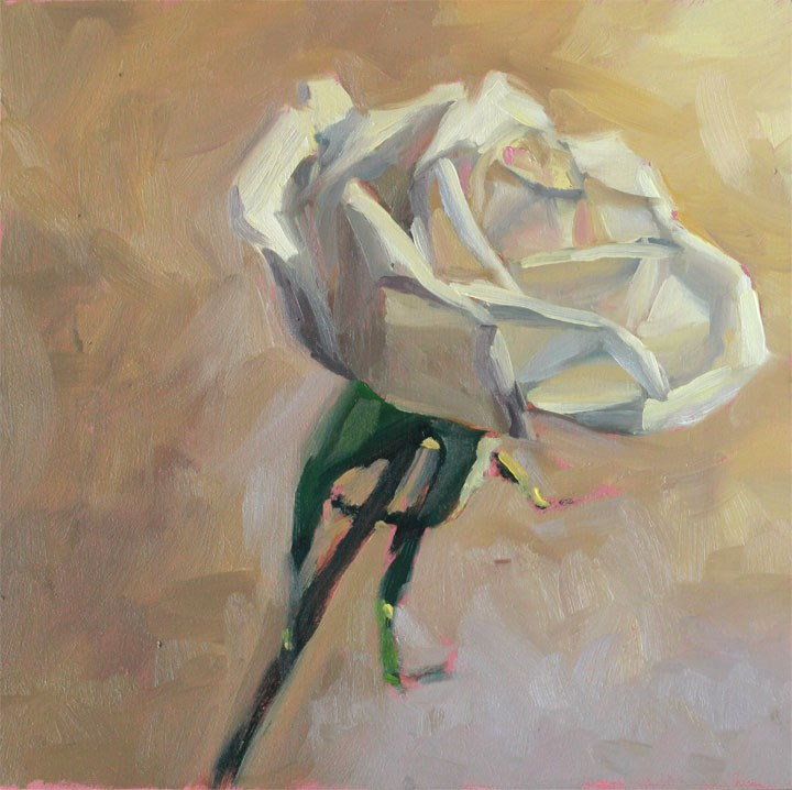 """Sweetheart Rose"" original fine art by Nealy May Riley"