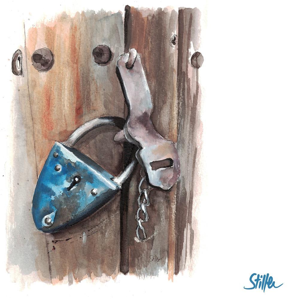 """""""3539 Padlock #23"""" original fine art by Dietmar Stiller"""
