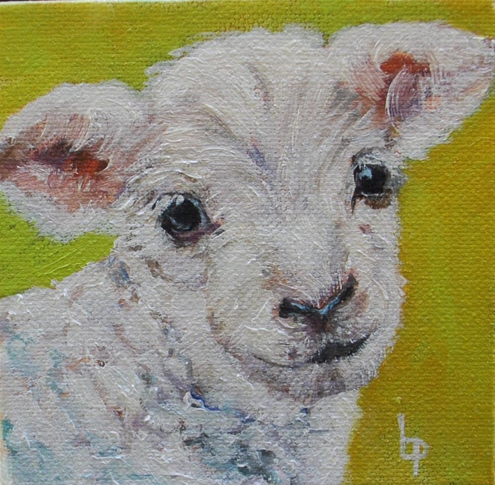 """Lamb"" original fine art by Beverley Phillips"