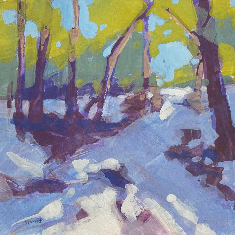 """Trees Need Snow"" original fine art by Patti Vincent"
