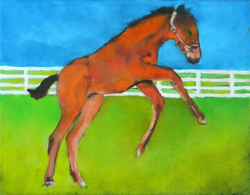 """Jump!"" original fine art by De Selby"