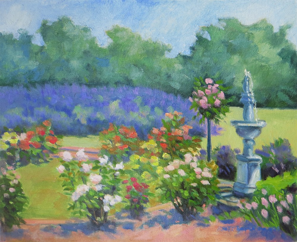 """Roses in the Lavender Fields"" original fine art by Rhett Regina Owings"