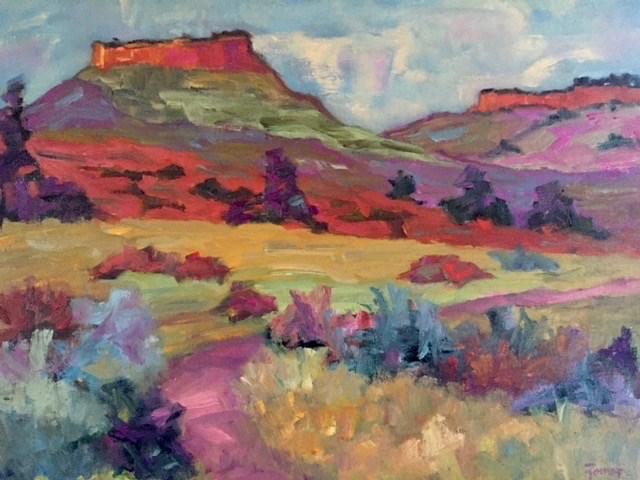 """""""Hall's Ranch, Colorado"""" original fine art by Liz Zornes"""