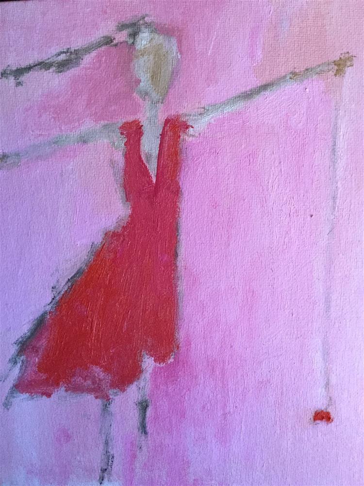 """""""Yo yo Lisa"""" original fine art by pamela kish"""