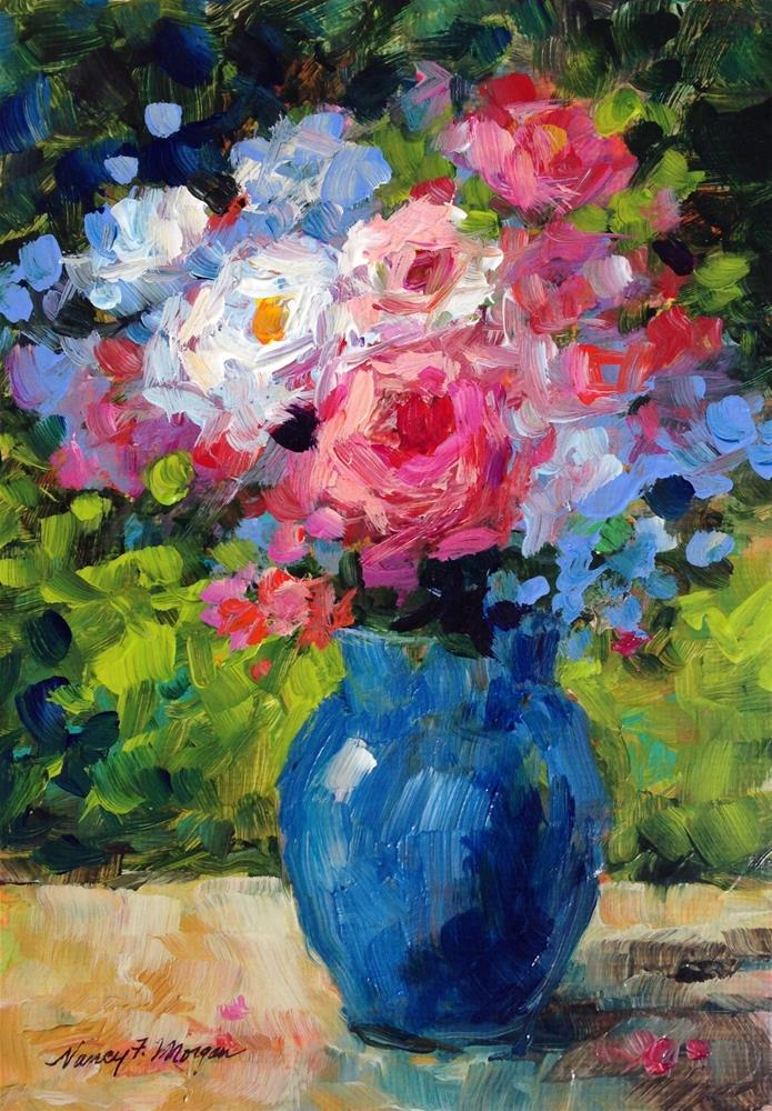"""Bouquet"" original fine art by Nancy F. Morgan"