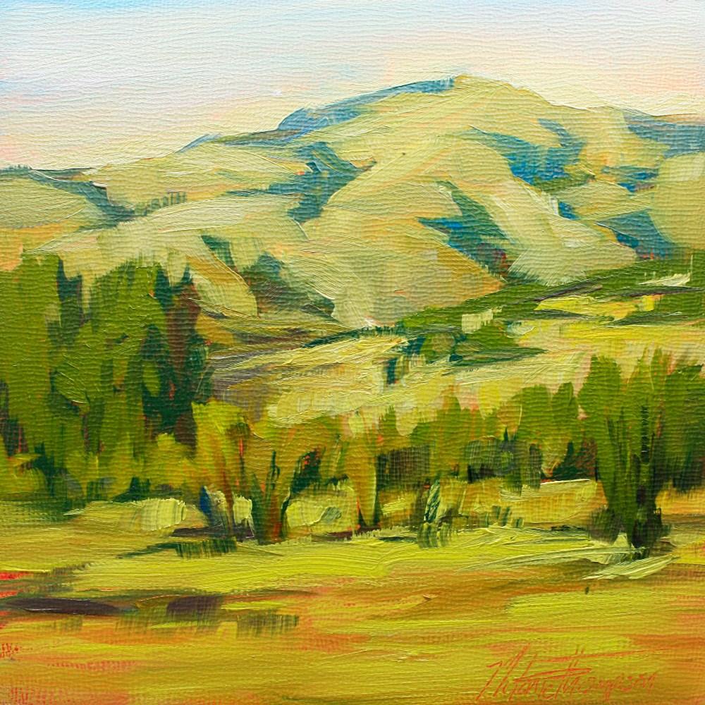 """Boise Mountain Foothills"" original fine art by Melanie Thompson"