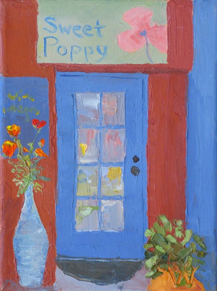 """""""Sweet Poppy"""" original fine art by Susan Woodward"""