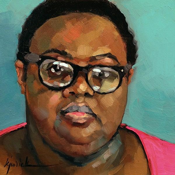 """200 Faces, No. 117"" original fine art by Karin Jurick"