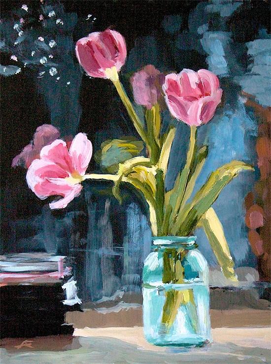 """""""Jelly Jar"""" original fine art by J. Farnsworth"""