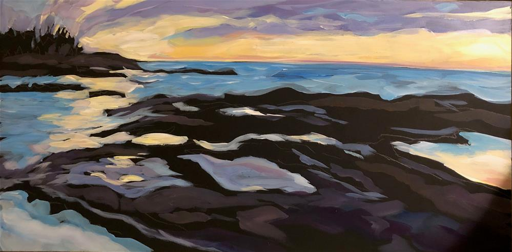 """March Sunrise at Artists' Point"" original fine art by Kat Corrigan"