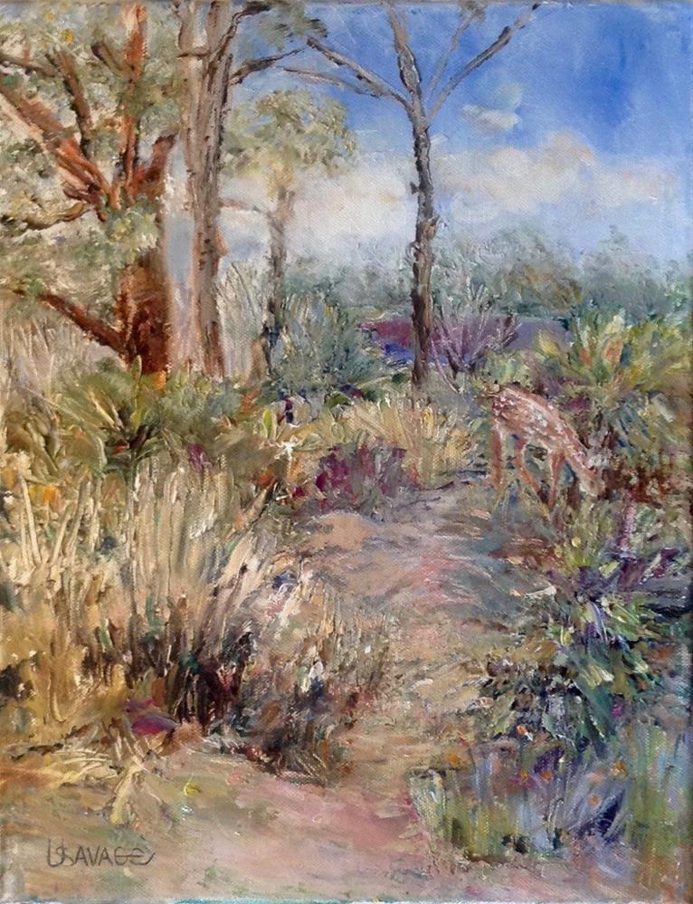 """Grazing"" original fine art by Judy Usavage"